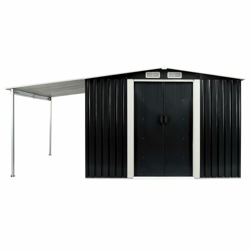 13 ft. W x 8 ft. D Metal Garden Shed WFX Utility Colour: Anthracite
