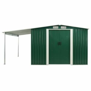 13 ft. W x 8 ft. D Metal Garden Shed WFX Utility Colour: Green