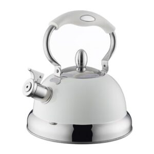 2.5 L Stainless Steel Whistling Stove Top Kettle Typhoon Colour: Cream