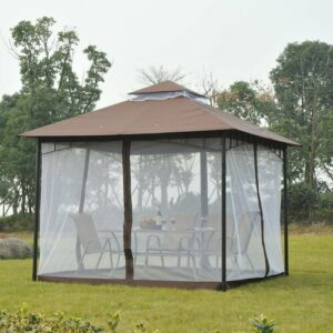 3m x 3m Metal Patio Gazebo Sol 72 Outdoor
