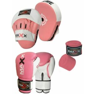(4oz Glove) CURVED Focus pads Set with BOXING GLOVES | Jabs