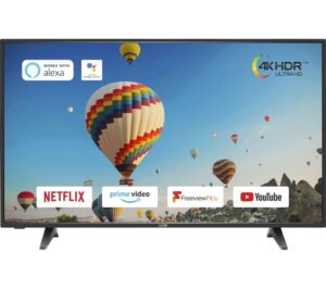 "50"" LOGIK L50UE20 Smart 4K Ultra HD HDR LED TV"