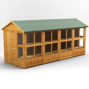 6 ft. W x 16 ft. D Solid Wood Garden Shed WFX Utility