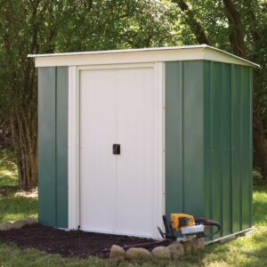 6 ft. W x 4 ft. D Metal Garden Shed Sol 72 Outdoor Installation & Floor Included: Yes