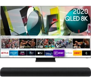 "65"" QE65Q900TSTXXU Smart 8K HDR QLED TV & HW-S60T/XU 4.0 All-in-One Sound Bar Bundle"
