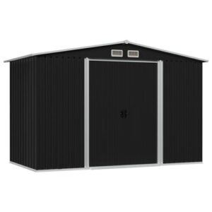 8 ft. W x 7 ft. D Metal Garden Shed WFX Utility Colour: Anthracite