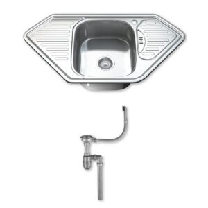 95cm x 50cm Stainless Steel Kitchen Sink Dihl