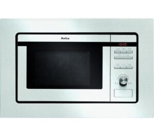 AMICA AMM20G1BI Built-in Microwave with Grill - Stainless Steel, Stainless Steel