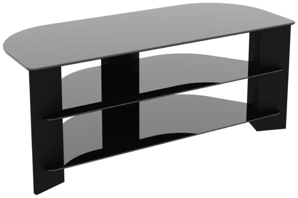 AVF Wood Effect Up To 55 Inch TV Corner Stand - Black