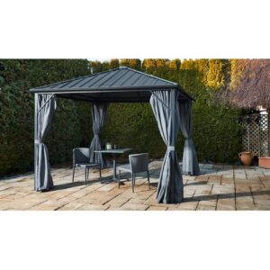 Abrahamsville 3m x 3m Aluminium/Steel Patio Gazebo Sol 72 Outdoor