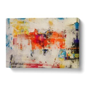 'Abstract Art Painting Vol.309' by S.Johnson - Wrapped Canvas Painting Print Big Box Art Size: 50 cm H x 76 cm W