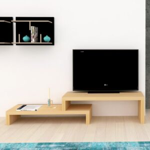 "Abye TV Stand for TVs up to 49"" Mercury Row Finish: Oak Veneer"