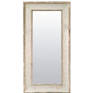 Adilynn Conny Full Length Mirror Williston Forge Size: 61cm H x 151cm W, Finish: Silver/White, Mirror: Without facets