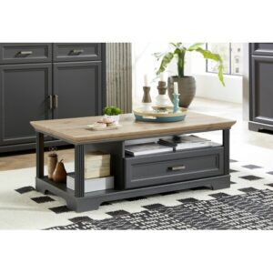 Aiana Coffee Table with Storage August Grove Frame colour: Grey