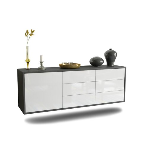 Ardley TV Stand Ebern Designs Colour: High Gloss White