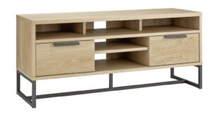 Argos Home Nomad 2 Drawer TV Unit - Light Oak Effect
