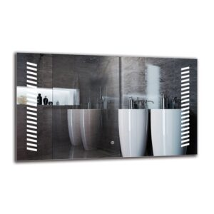 Ariane Bathroom Mirror Metro Lane Size: 60cm H x 100cm W