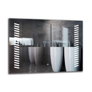 Ariane Bathroom Mirror Metro Lane Size: 60cm H x 80cm W