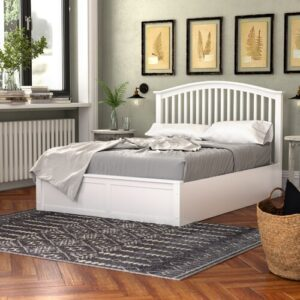 Armory Ottoman Bed Three Posts Colour: White, Size: Double (4'6)