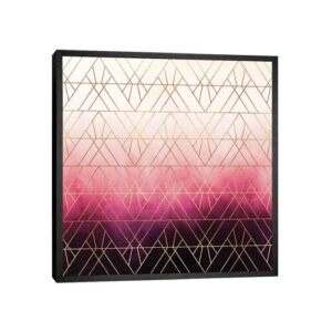 'Art Deco Triangle Ombre' - Picture Frame Graphic Art Print on Canvas Canora Grey