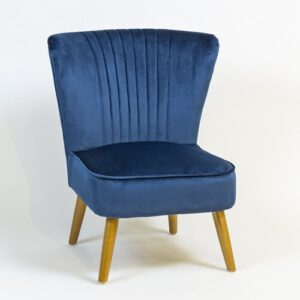 Audrey Cocktail Chair Hykkon Upholstery Colour: Navy