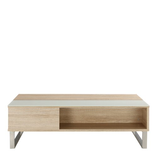 Ayala Lift Top Coffee Table Mercury Row Colour: Oak/White