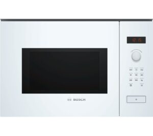 BOSCH BFL553MW0B Built-in Solo Microwave - White, White
