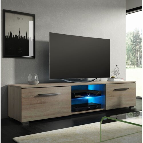 """Bayldon TV Stand for TVs up to 55"""" with LED Lighting Metro Lane Colour: Oak Sonoma Matte"""