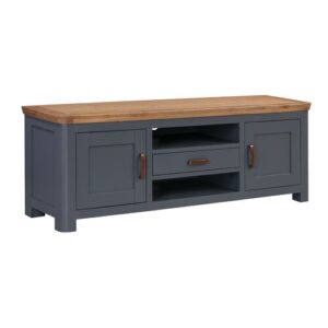 "Baylor TV Stand for TVs up to 55"" Beachcrest Home Colour: Midnight Blue"