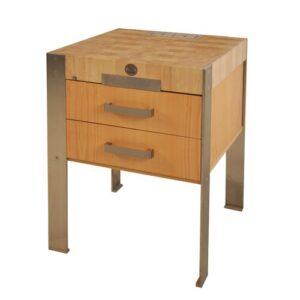 Beckman Kitchen Cart with Wood Top Williston Forge
