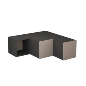 """Behan TV Stand for TVs up to 40"""" Zipcode Design Colour: Anthracite/Light Mocha"""