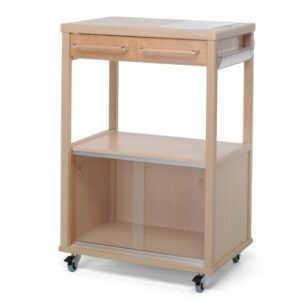 Benchef Kitchen Trolley with Manufactured Wood Top Foppapedretti Base Finish: Beige
