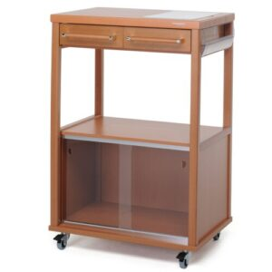 Benchef Kitchen Trolley with Manufactured Wood Top Foppapedretti Base Finish: Brown