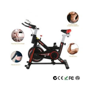 Black & Red Home Exercise Bike | Stationary Workout Machine