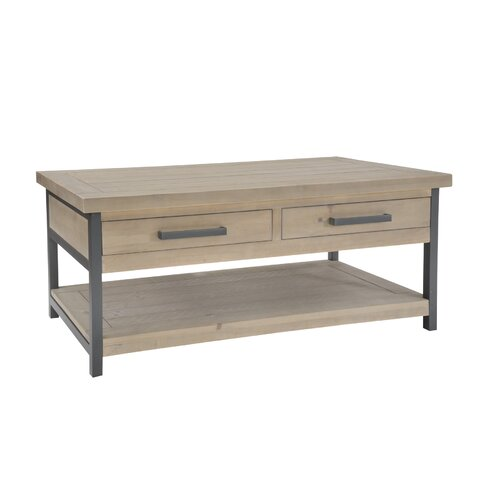 Bleeker Coffee Table with Storage Williston Forge