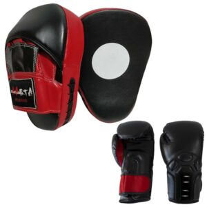 Boxing Gloves & Focus Pad Punching training Fitness