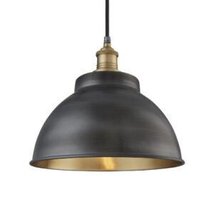 Brooklyn 1 Light Outdoor Pendant Industville Fixture Finish: Brass