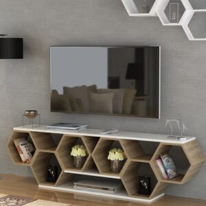 """Brune TV Stand for TVs up to 78"""" Blue Elephant"""