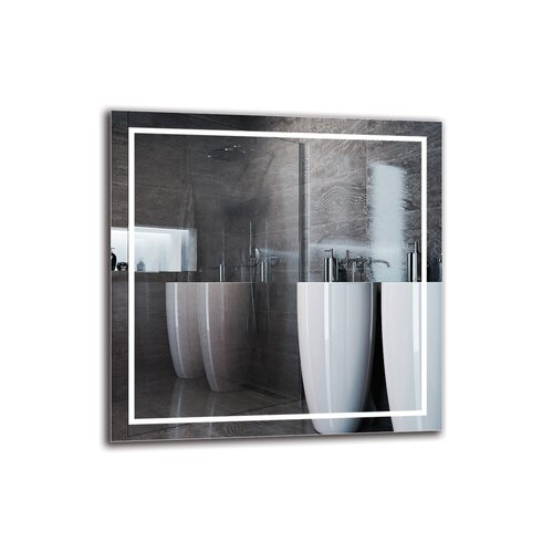 Cajuste Bathroom Mirror Metro Lane Size: 60cm H x 60cm W