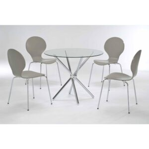 Casa Stone Dining Table with 4 Chairs