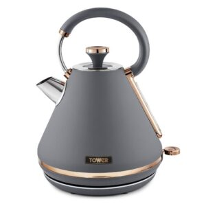 Cavaletto 1.7L Stainless Steel Electric Kettle Tower Colour: Grey