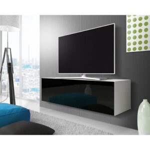 "Celrise TV Stand for TVs up to 55"" Selsey Living Colour: White Matt / Black Gloss"