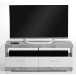 """Charlton TV Stand for TVs up to 50"""" Zipcode Design Colour: Grey/White"""
