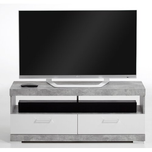 "Charlton TV Stand for TVs up to 50"" Zipcode Design Colour: Grey/White"