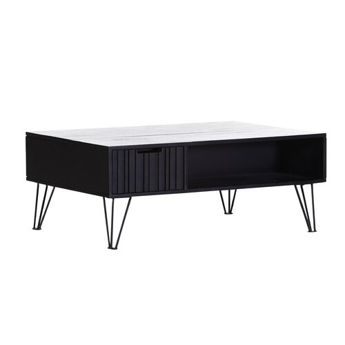 Cockburn Lift Top Coffee Table Ebern Designs Colour: Black