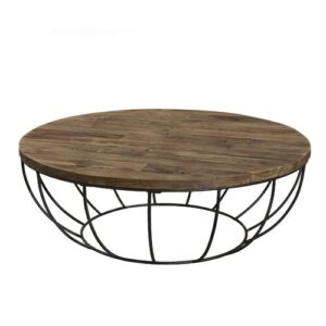 Coffee Table Williston Forge Size: 35cm H x 100cm W x 100cm D, Base Finish: Brut
