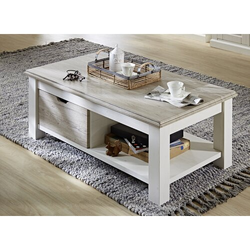Coffee Table with Storage Brambly Cottage Tabletop colour: Taupe