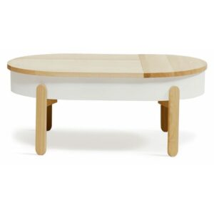 Coffee Table with Storage Symple Stuff Top Finish: White