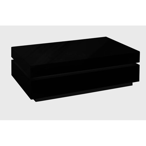 Coffee Table with Storage Wade Logan Finish: Black