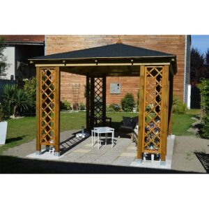 Colden 3m x 3.1m Solid Wood Patio Gazebo Sol 72 Outdoor